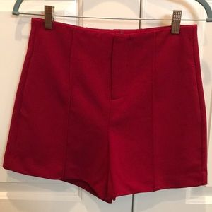 Pants - Red high waisted shorts
